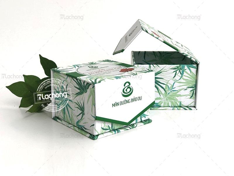 in hộp mỹ phẩm cartong cao cấp Lô Hội Linh Chi