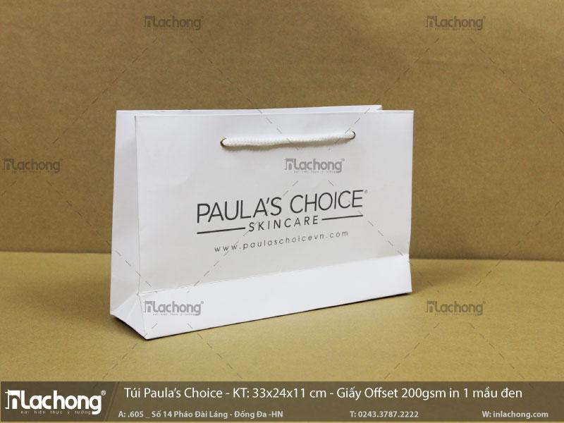 in túi giấy đựng thời trang Paula's Choise