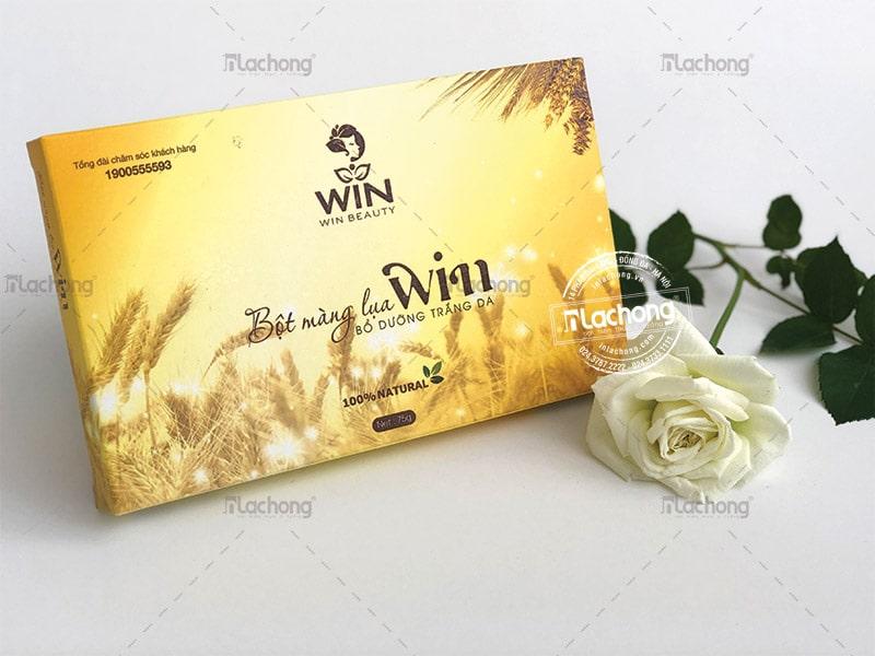Thiết kế và in hộp giấy đựng bột màng lụa Win