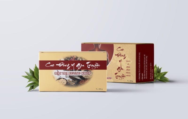 Thiết kế hộp giấy Cao Đông Y Gia Truyền