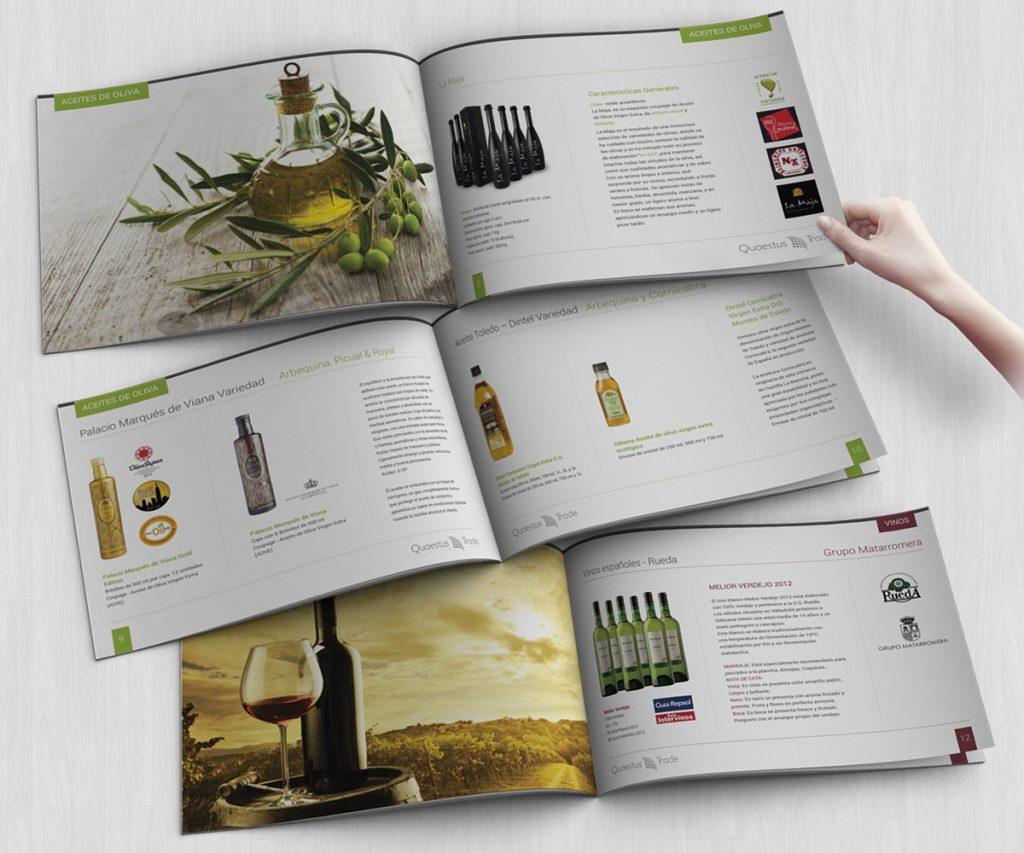 Các mẫu catalogue giới thiệu về rượu.