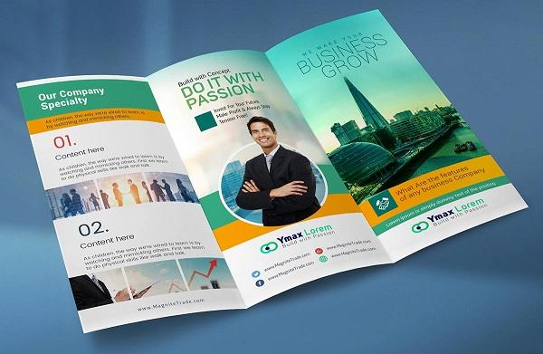 Thiết kế Brochure thường có kích thước nhỏ và ít giấy hơn.