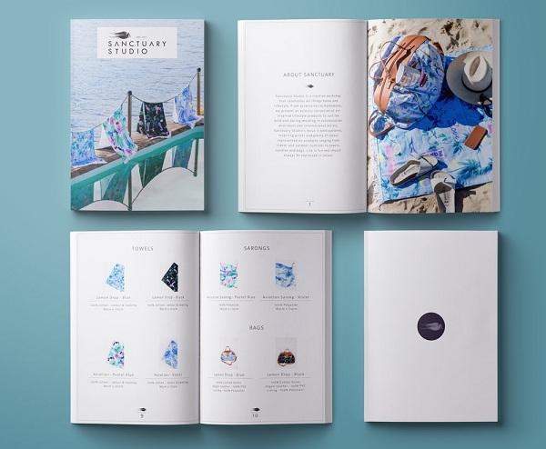 Thiết kế catalogue thường dưới dạng như một quyển sách dày, nhiều trang.