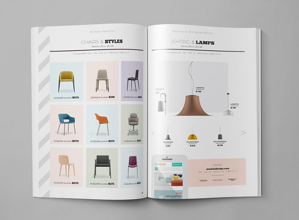 Quảng cáo nội thất gia đình thông qua mẫu catalogue bắt mắt.