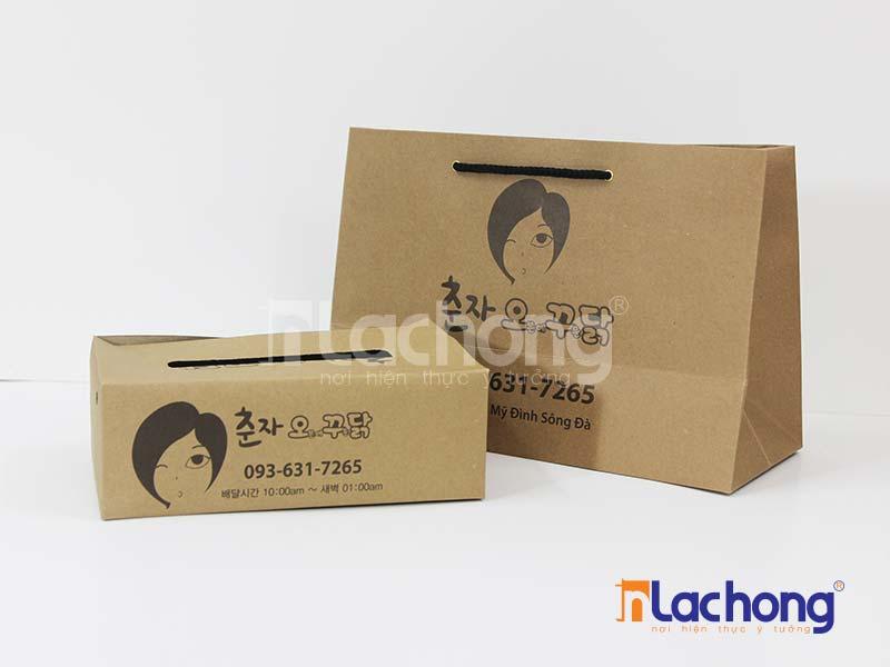 Mẫu túi giấy kraft được thiết kế, in tại Lạc Hồng.