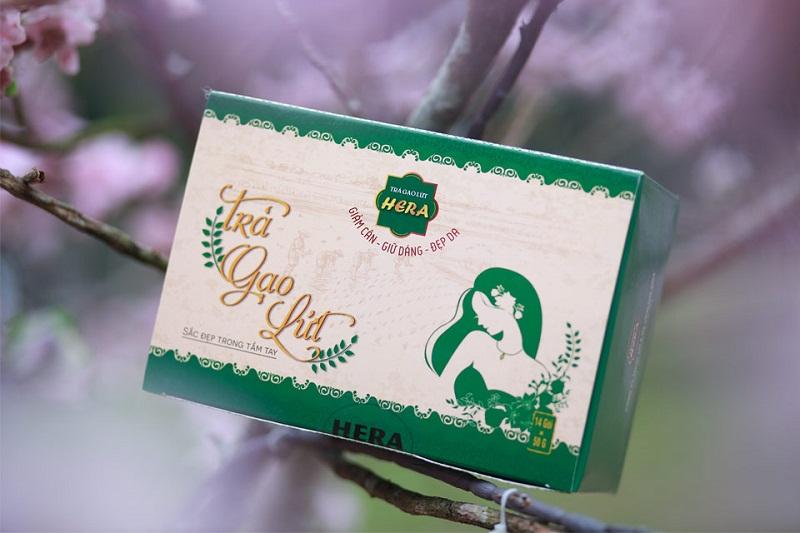 Thiết kế của Lạc Hồng trong sản phẩm trà giảm cân mới nhất của HERA.