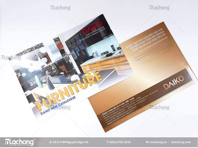Thiết kế catalogue giá rẻ cho ngành nội thất tại In Lạc Hồng.