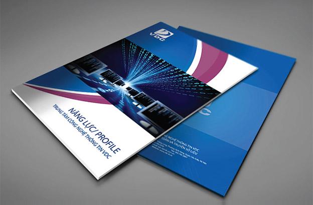 Trang bìa catalogue thể hiện lĩnh vực của doanh nghiệp (hoặc cơ quan).
