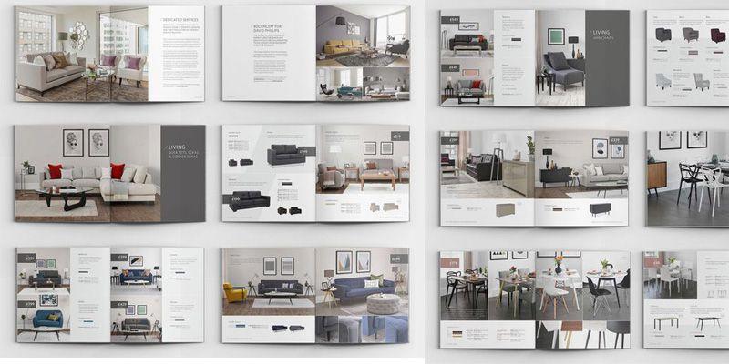 Mẫu catalogue giới thiệu các sản phẩm nội thất trong nhà.