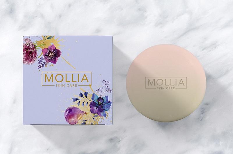 Hộp đựng kem dưỡng của MOLLIA.