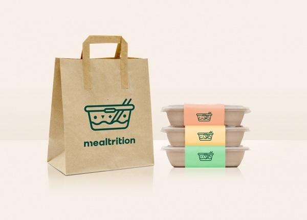 In túi giấy đựng thực phẩm có quai, tiện lợi trong việc cầm, nắm.
