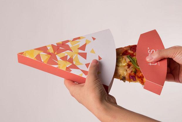 Thiết kế hộp giấy tạo sự tiện lợi cho người dùng khi thưởng thức Pizza.