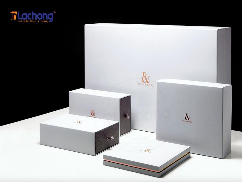 Thiết kế bộ sản phẩm với các kích thước hộp khác nhau, đáp ứng các kích thước khác nhau của sản phẩm