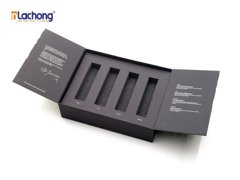 Thiết kế hộp giấy, có khay dùng để đựng son, cực đẹp và bền