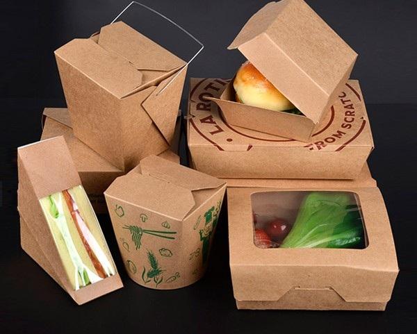 Thiết kế hộp giấy đựng đồ ăn có nhiều kiểu dáng và kích thước.