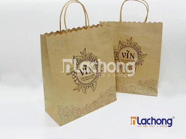 Túi giấy đựng cà phê có quai do Lạc Hồng sản xuất
