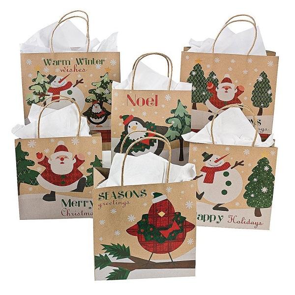 Thiết kế túi giấy đựng quà giáng sinh đẹp