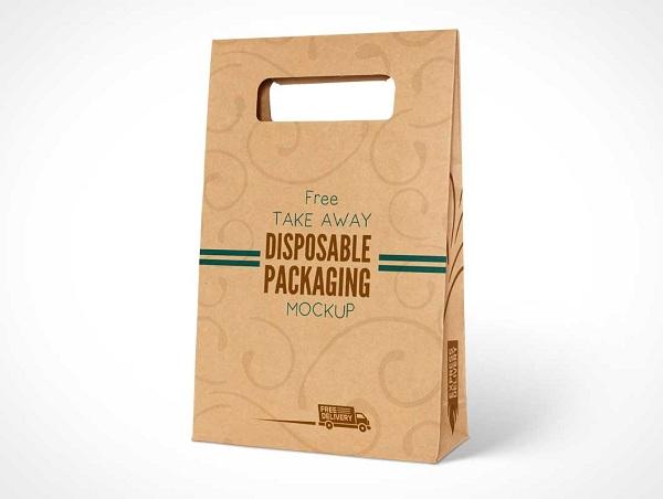 Cùng một kiểu giấy nhưng mẫu túi giấy này khách hàng dễ cầm hơn.