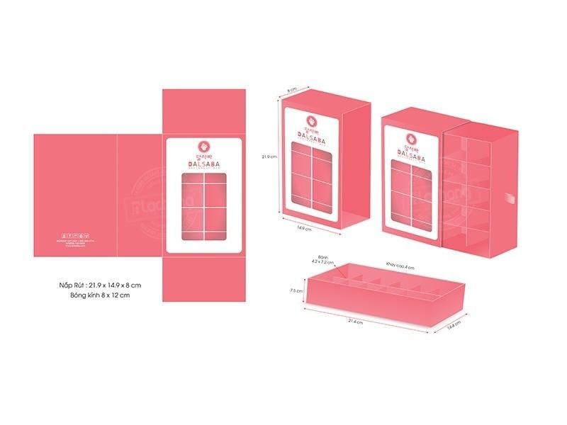 Thiết kế vỏ hộp carton đựng bánh DALSABA của Lạc Hồng