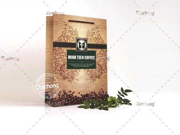 Túi giấy MINH TIEN COFFEE của Lạc Hồng