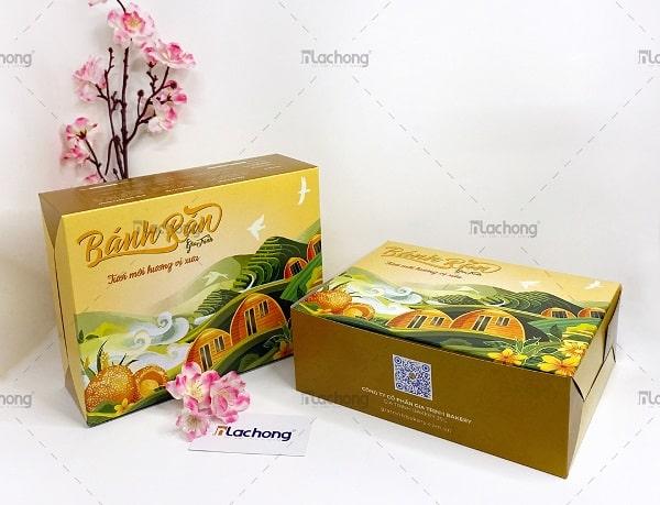 Hộp đựng bánh bằng giấy tại Lạc Hồng được thiết kế với nhiều quy cách đa dạng