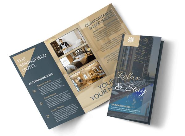 In brochure hotel đẹp sẽ thu hút và kích thích sự lựa chọn của khách hàng
