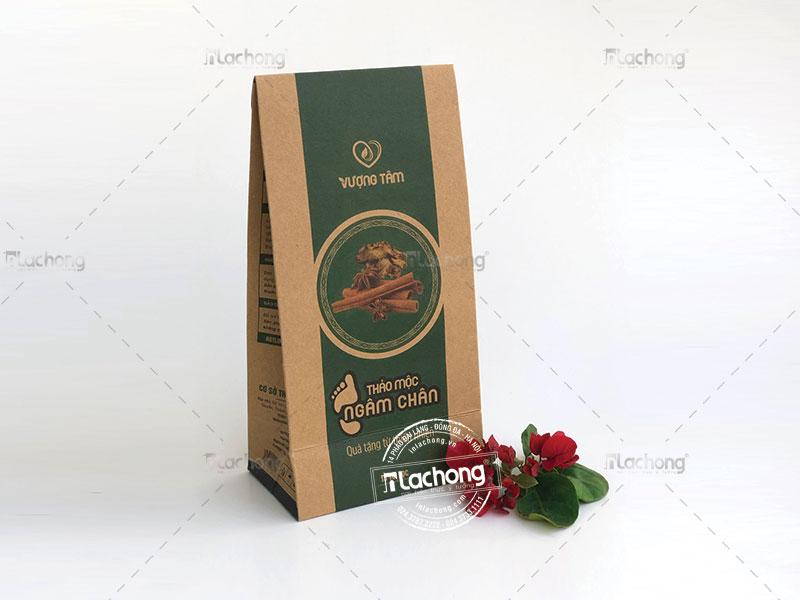 Vỏ hộp giấy kraft đựng thảo mộc tại Lạc Hồng