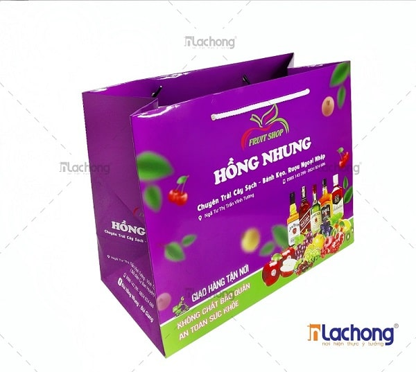 Sản xuất túi giấy có quai đựng quà tặng Hồng Nhung