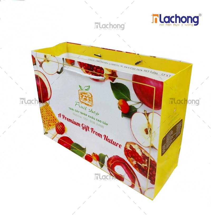 In túi giấy đựng trái cây tươi nhập khẩu