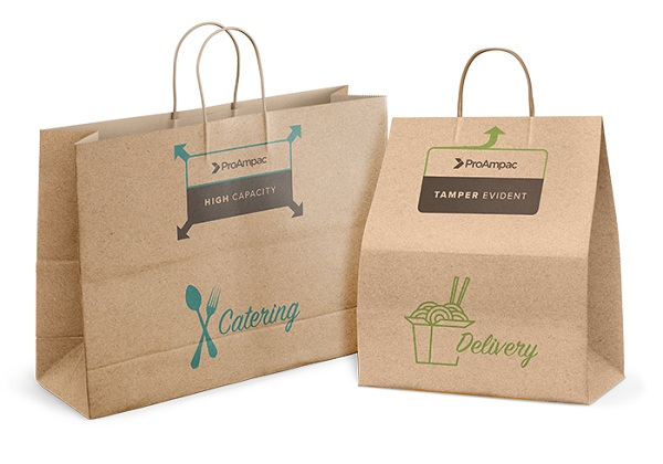 In túi giấy có quai kraft có độ bền tương đối, thường được sử dụng cùng với các loại túi giấy có cùng chất liệu.