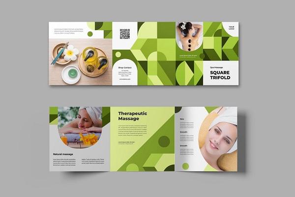 In brochure spa giá rẻ, đẹp. Hình ảnh bắt mắt dễ kích thích và thu hút được khách hàng