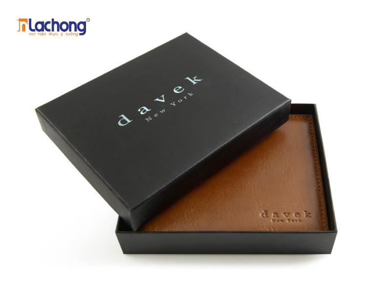 Hộp giấy âm dương đựng ví davek - tăng tính sang trọng và tính thẩm mỹ cho sản phẩm.