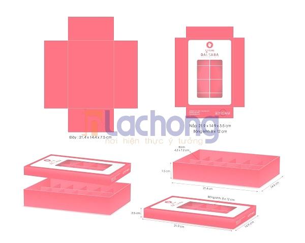 Thiết kế hộp đựng bánh Macaron của Lạc Hồng