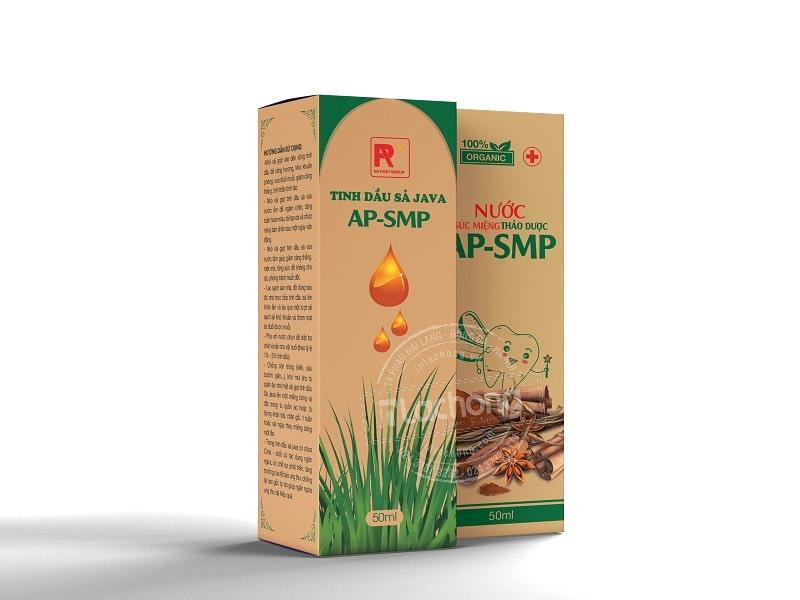 Thiết kế hộp giấy kraft đựng tinh dầu sả JAVA của Lạc Hồng