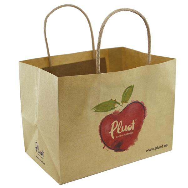 Túi giấy đựng hoa quả, trái cây làm bằng chất liệu giấy kraft - thân thiện với môi trường