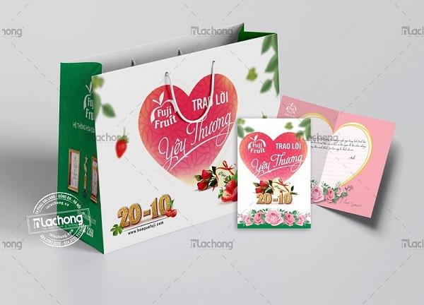 Thiết kế túi giấy đựng hoa quả Fuji Fruit của Lạc Hồng