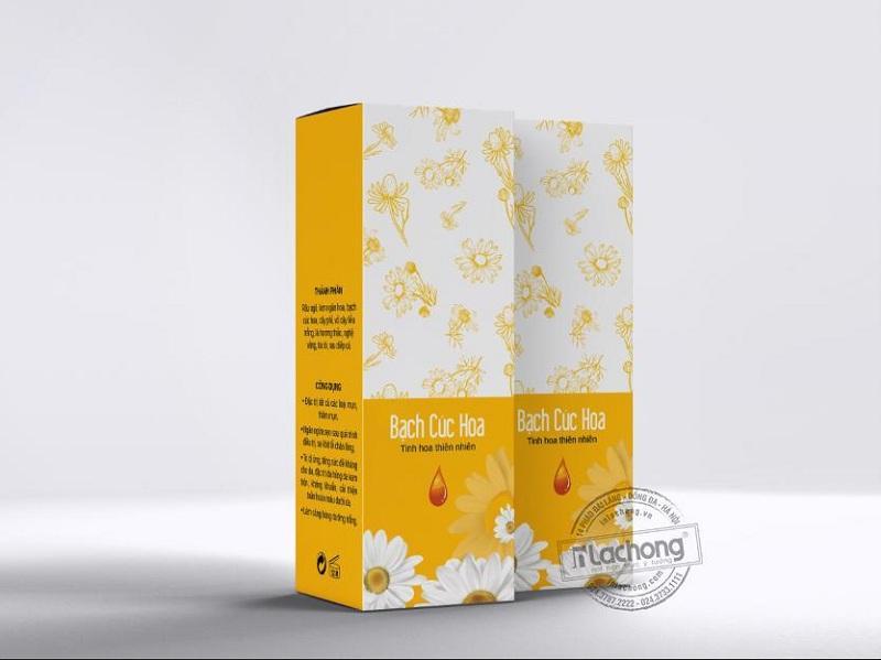 Thiết kế hộp giấy đựng trà Bạch Hoa Cúc