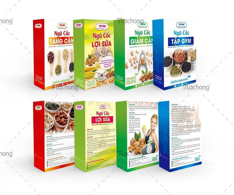 Thiết kế bộ sản phẩm hộp ngũ cốc TUỆ MINH