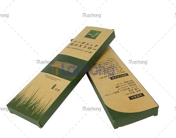 Sản xuất hộp kraft đựng ống hút tre của Lạc Hồng