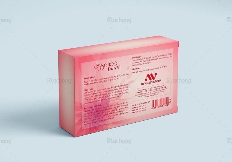 Mẫu thiết kế hộp giấy đựng mỹ phẩm serum Dr.AN