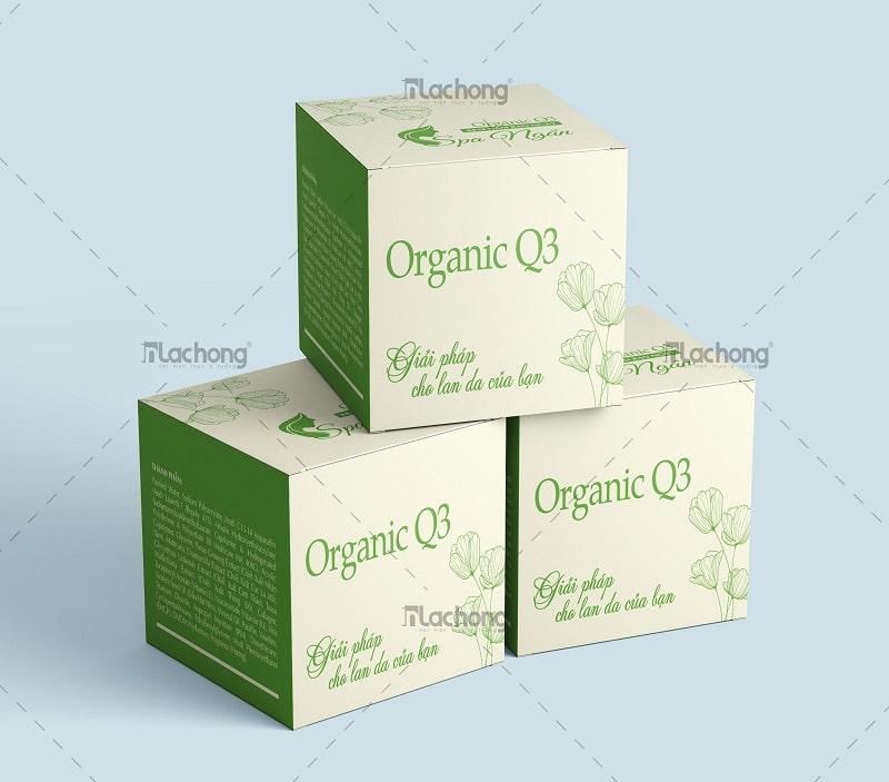 Thiết kế hộp mỹ phẩm Organic Q3