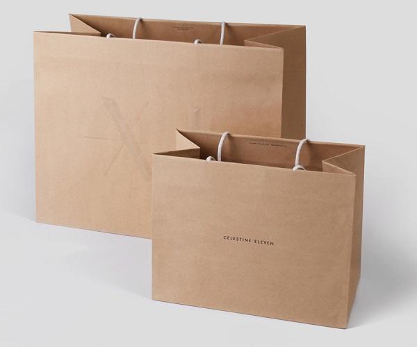 Túi giấy Kraft đựng quà loại lớn giá rẻ
