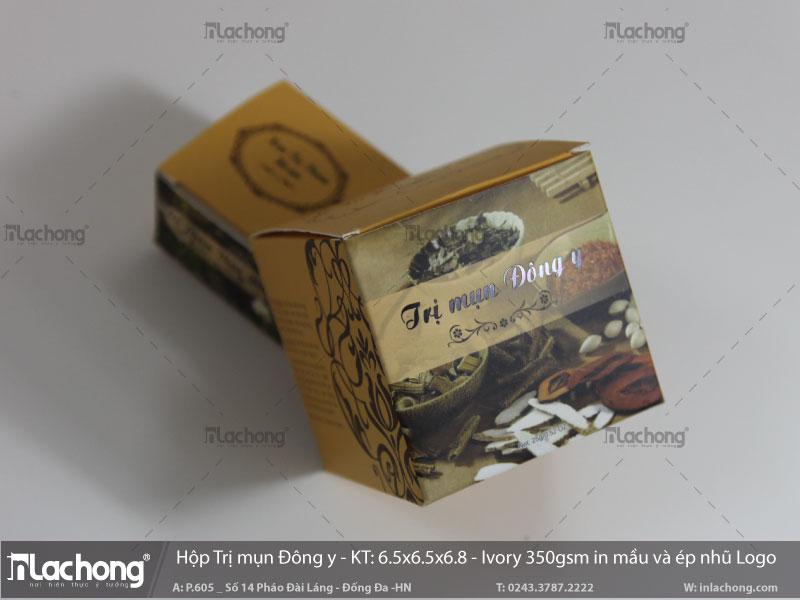 In hộp giấy đựng mỹ phẩm trị mụn đông y tại Lạc Hồng