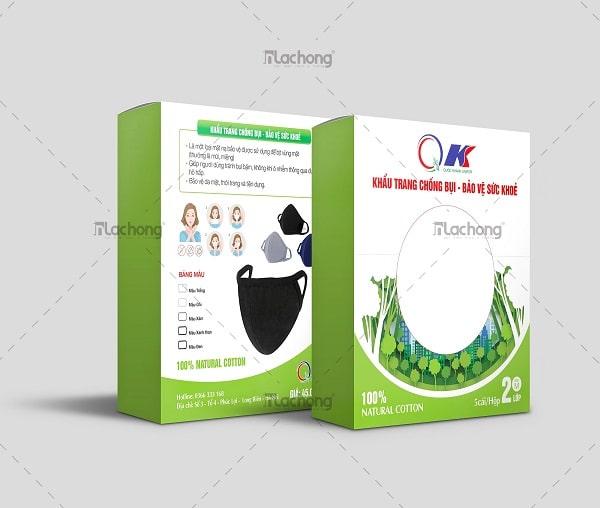 Thiết kế vỏ hộp đựng khẩu trang QK của Lạc Hồng