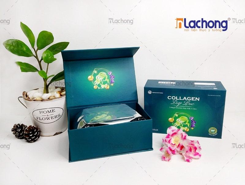 Sản xuất hộp giấy cứng cao cấp đựng mỹ phẩm COLLAGEN