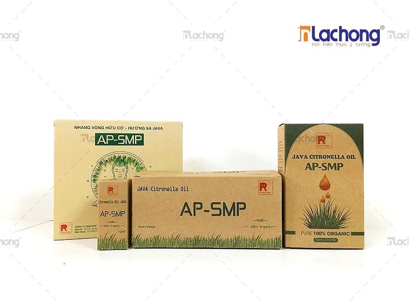 Mẫu in hộp giấy kraft giá rẻ đựng tinh dầu AP-AMP