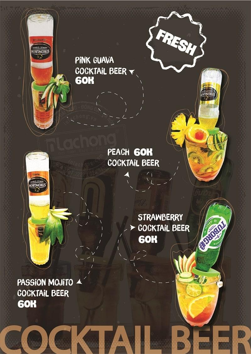 Mẫu thiết kế menu đồ uống của Lạc Hồng