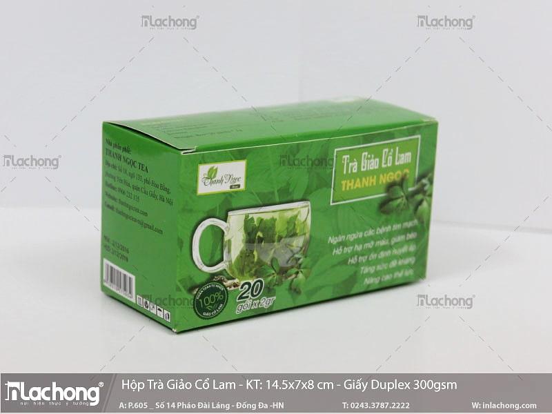 Vỏ hộp giấy đựng Trà Giảo Cổ Lam Thanh Ngọc