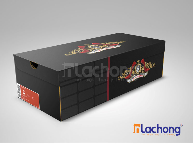 Thiết kế hộp carton đựng giày của Lạc Hồng