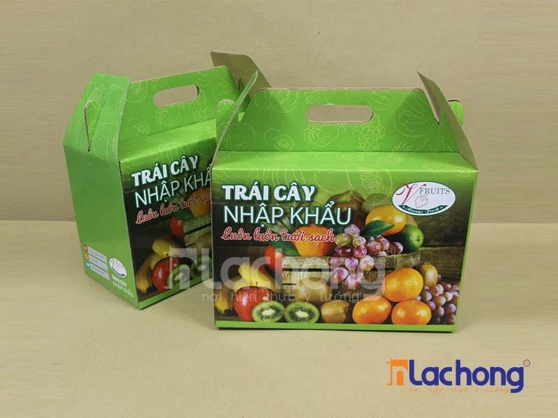 Hộp carton sóng đẹp đựng trái cây do Lạc Hồng sản xuất